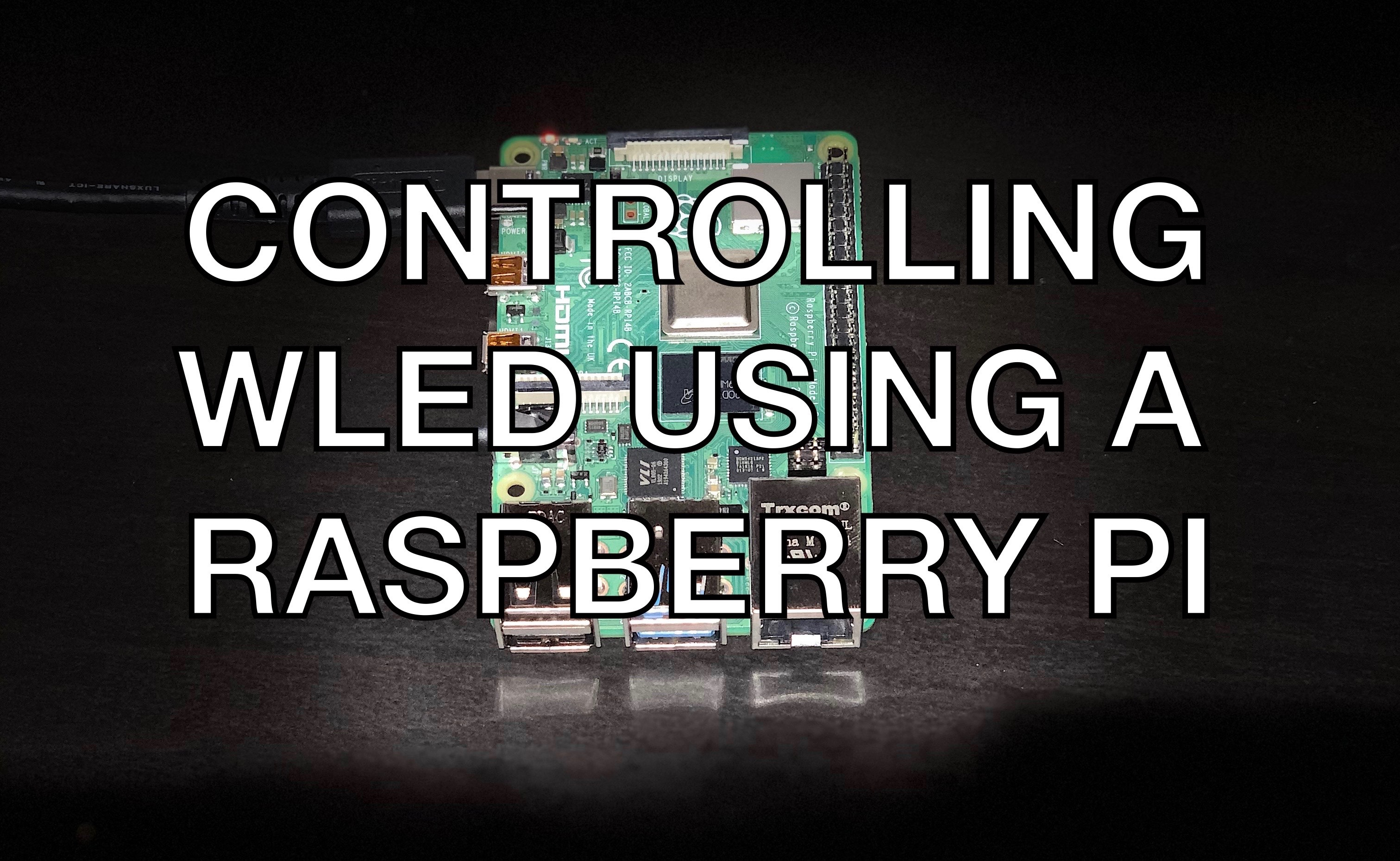 Controlling WLED With Raspberry Pi Using the WLED API