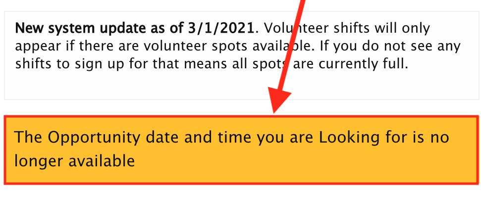 The Opportunity date and time you are Looking for is no longer available
