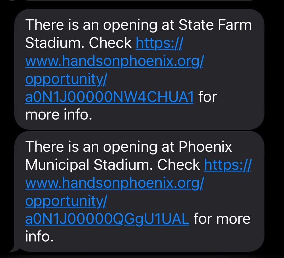 SMS notification
