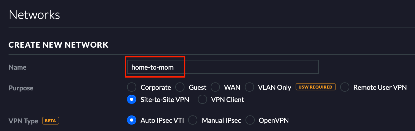 How to Create a Site to Site VPN Between 2 Unifi Security Gateways