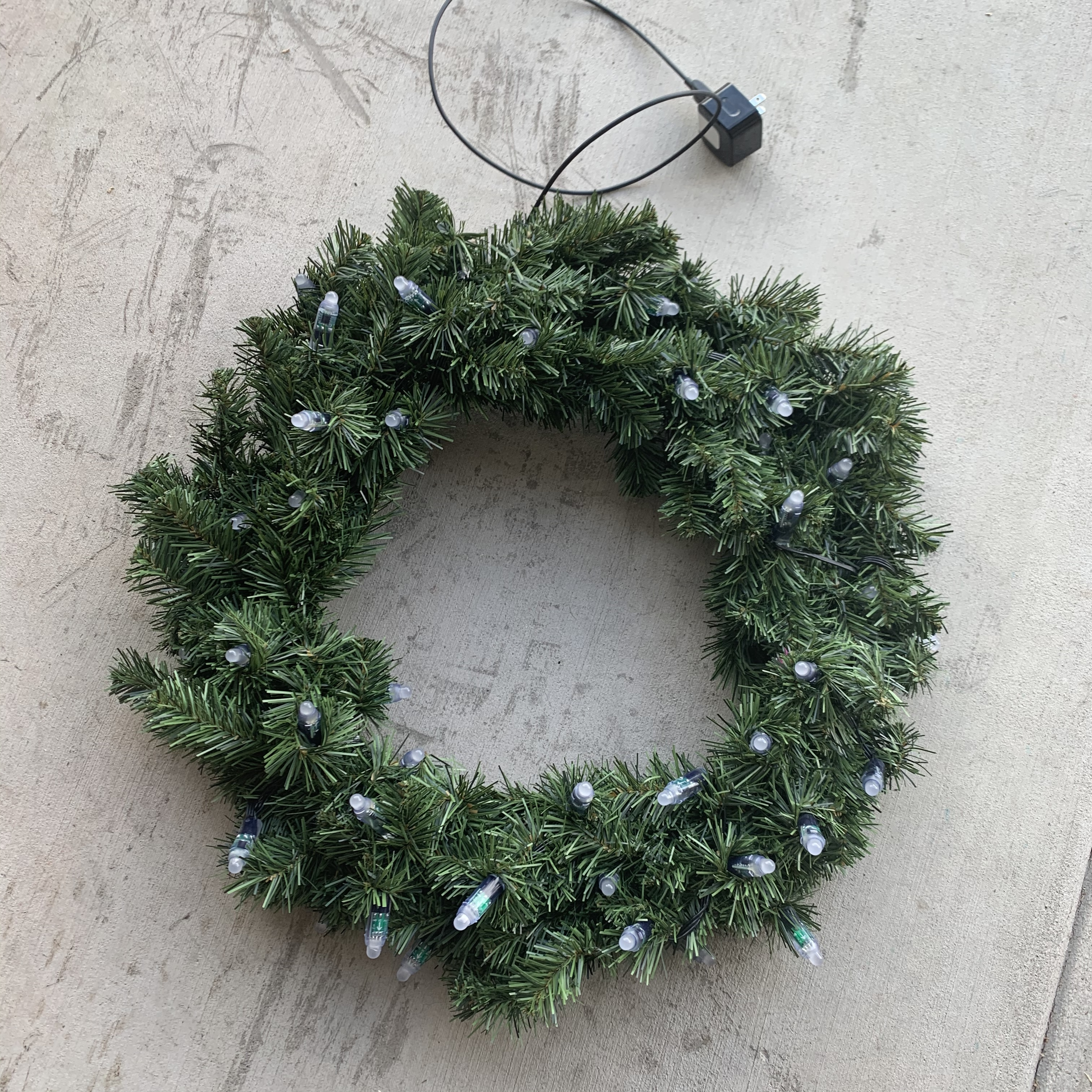 Front of wreath with WS2811 LEDs